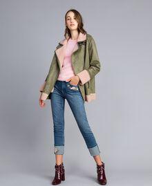 Jeans skinny con ricamo e risvolto Denim Blue Donna JA82V5-0T