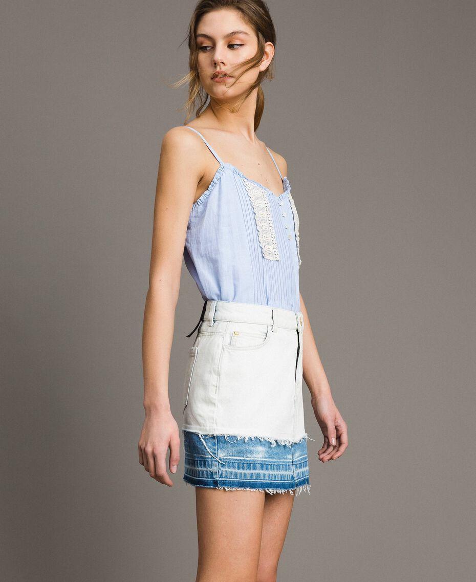 Minijupe en denim Bleu Denim Femme 191MT2433-02