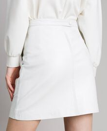 Leather mini skirt White Woman 191TP2163-04