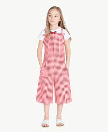Gingham jumpsuit Gingham / Pomegranate Red Jacquard Child GS82ZD-02