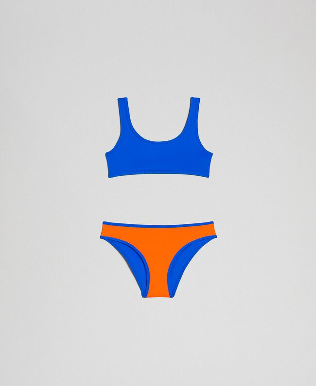 Reversible bikini Fluorescent Orange / Fluorescent Blue Child 191TQM027-01