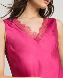 Slip dress in satin and lace Rose Blossom Woman 191LL2DBB-04