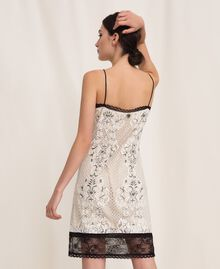 Lace slip dress with embroidery Ivory Woman 201TP2463-03