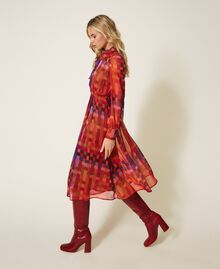 Printed lurex creponne dress Lurex Gerbera Multicolour Print Woman 202MT2410-02