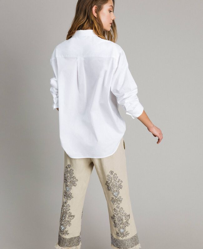Camicia in popeline Bianco Donna 191TT223D-03