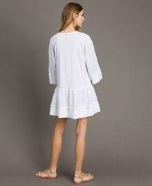 Caftan en popeline Blanc Femme 191LB2JEE-03