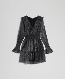 Metal creponne tulle dress Black / Silver Woman 192MT2140-0S