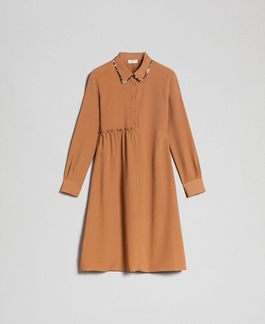 "Sequin shirt dress ""Sequoia"" Beige Woman 192ST209C-0S"