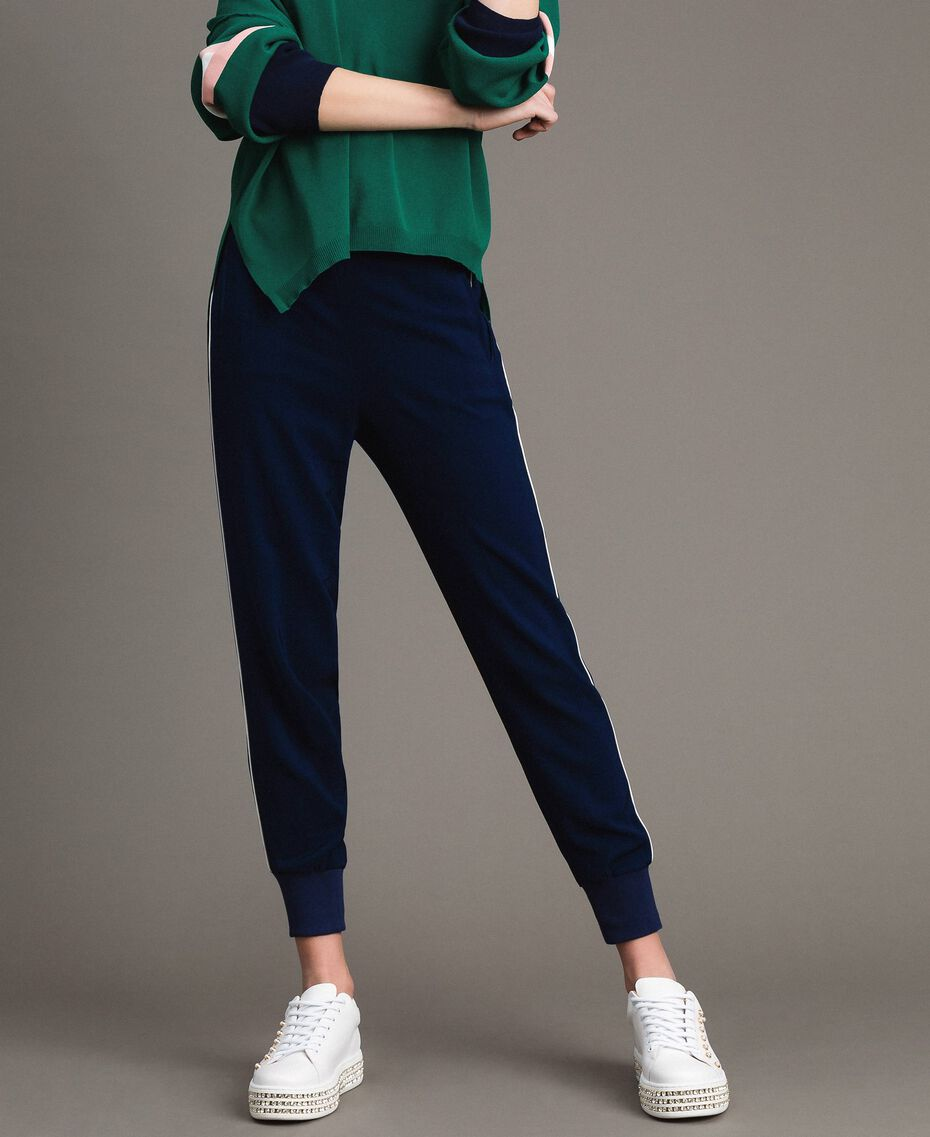 Georgette-Jogginghose Midnight-Blau Frau 191TP2326-02