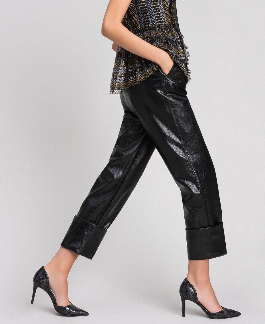 Escarpins en cuir avec imprimé animalier Imprimé Python Rose Mousse Femme 192TCP150-0T