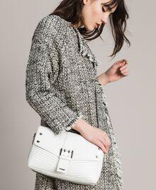 Rebel leather shoulder bag White Snow Woman 191TA7233-0S