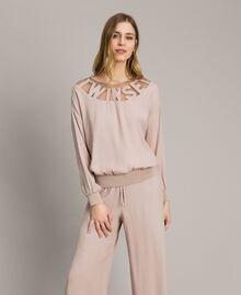 """Pullover mit Tüllbügel und Logo """"Grey Dust"""" Grau Frau 191LL23BB-02"""
