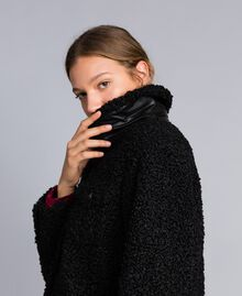 Faux lamb fur peacoat Black Woman JA82KG-05