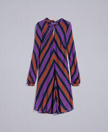 Robe en crêpe georgette rayé Imprimé Rayure Multicolore Femme TA8295-0S