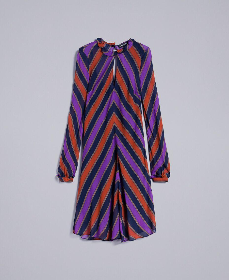 Vestido de georgette a rayas Estampado Raya Multicolor Mujer TA8295-0S