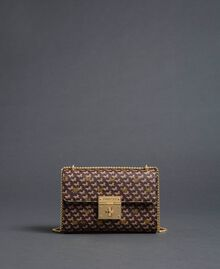 Butterfly print small shoulder bag Dark Gold Butterfly Print Woman 192TO801M-03
