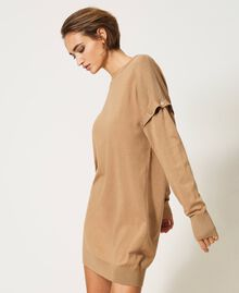 """Knit dress with removable sleeves """"Dune"""" Beige Woman 202MP3032-05"""
