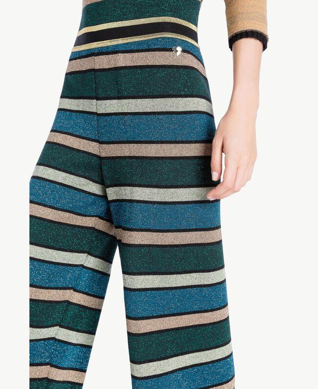 "Pantalón de rayas de lúrex Multicolor ""Azul Báltico"" PA7333-04"
