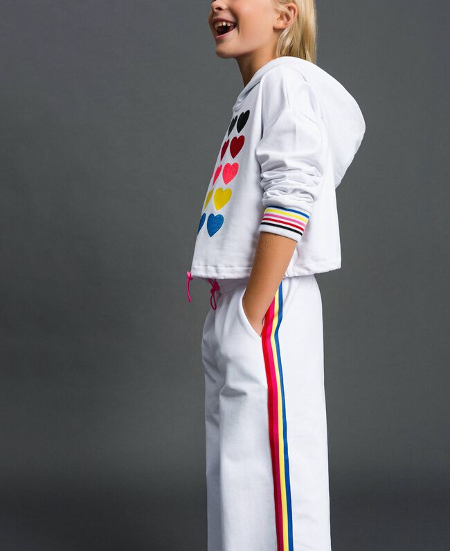"""Hoodie and trousers """"Papers"""" White Child 999GJ2013-01"""