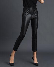 Faux leather leggings Black Woman 192MP2025-01