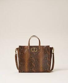 Grand cabas Twinset Bag en cuir Imprimé Whips Marron Femme 212TB7290-01