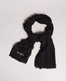Cotton scarf Black Woman 191TA436A-01
