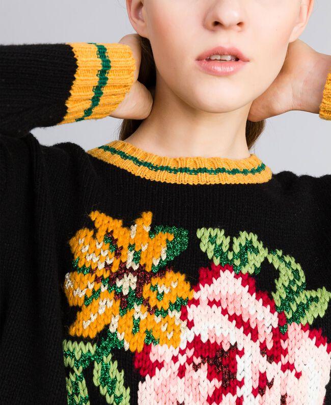 Wool blend jumper Black Woman PA83HR-04