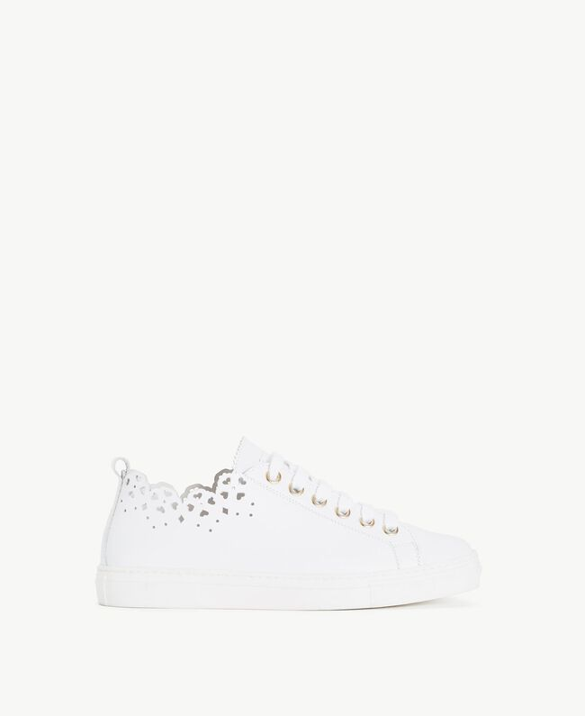 TWINSET Scalloped sneakers White Woman CS8TFY-01