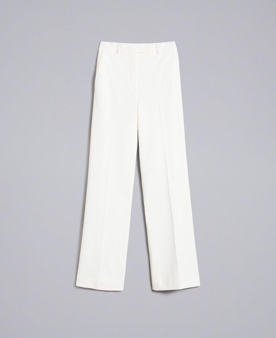 Pantalon en point de Milan Blanc Neige Femme PA8218-0S