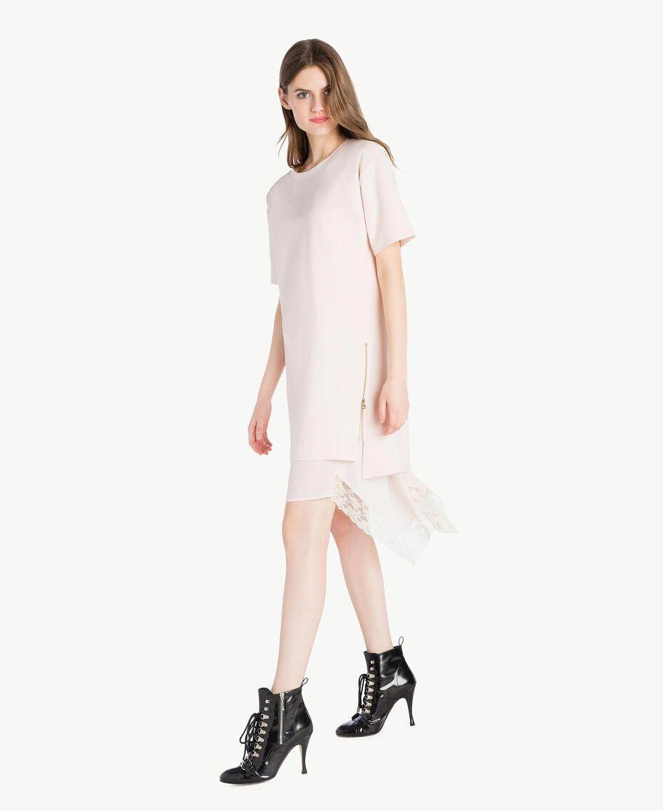 Lace dress Pale Ecru Woman PS828P-02