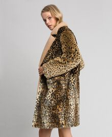 Cappotto in similpelliccia animalier Patch Animallier Donna 192TT2250-01