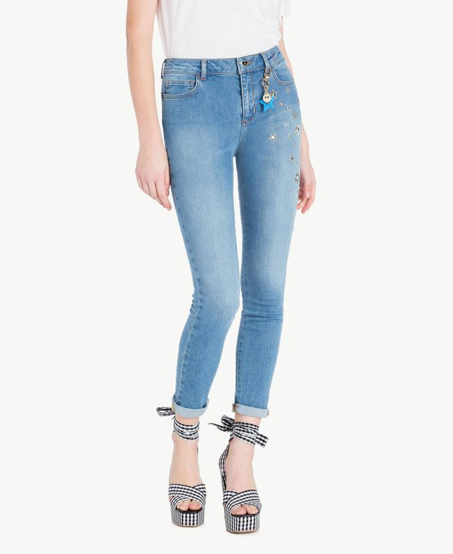 Skinny jeans Denim Blue Woman JS82WE-01