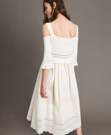 Broderie anglaise knit dress White Snow Woman 191TT3013-03