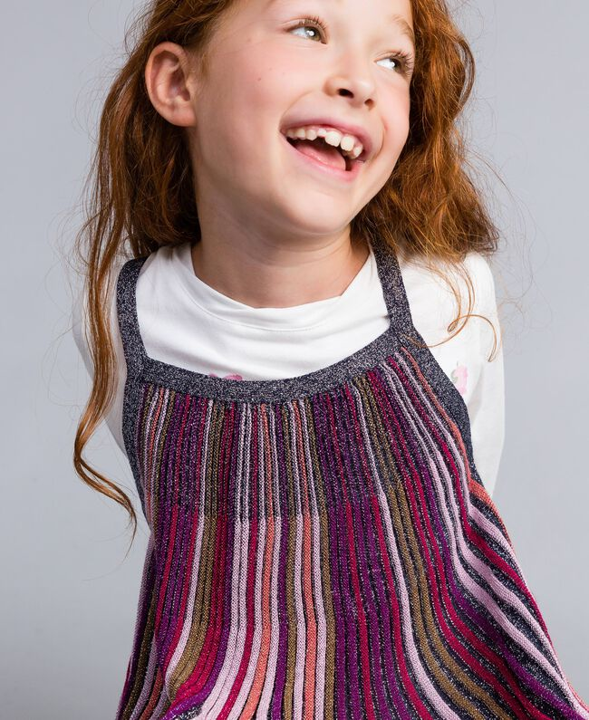 Robe en lurex multicolore Multicolore Lurex Enfant GA83KP-04