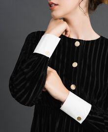 Robe en velours dévoré effet rayé Noir Femme 192MP2250-04