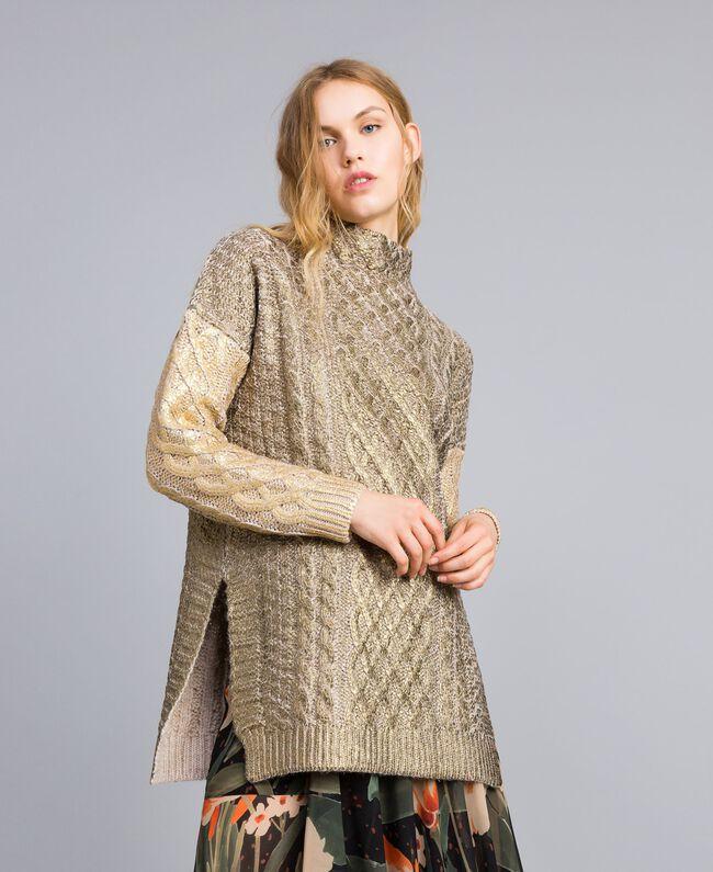 Maxi maglia laminata Bicolor Bronzo / Oro Donna TA831C-01