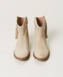 Leather Texas boots Incense Beige Child 211GCJ152-05