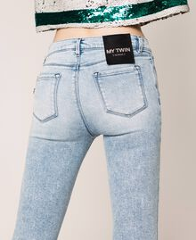 Push up jeans with five pockets Denim Blue Woman 201MP227K-04