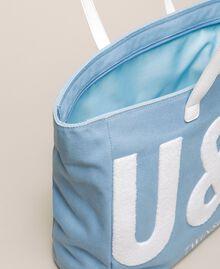 "Logo beach bag ""Waterfall"" Blue Woman 201LB79BB-05"