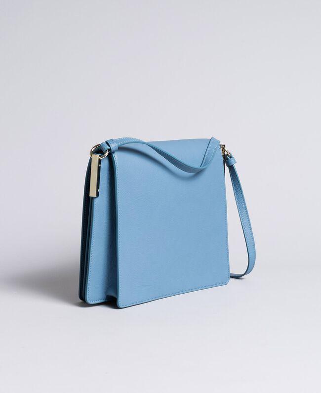 Tracolla grande in pelle Azzurro Infinito Donna AA8PGC-03