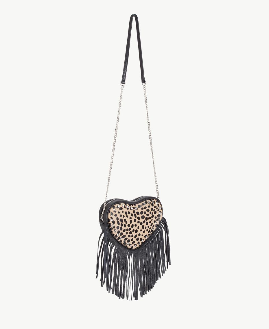 TWINSET Animal print shoulder bag Ponyskin Animal Print Woman AS8PLE-02