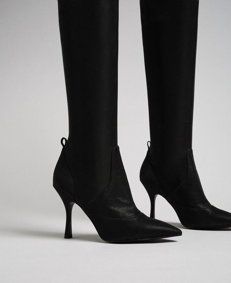 Сапоги-ботфорты на шпильке Черный женщина 192MCP036-01