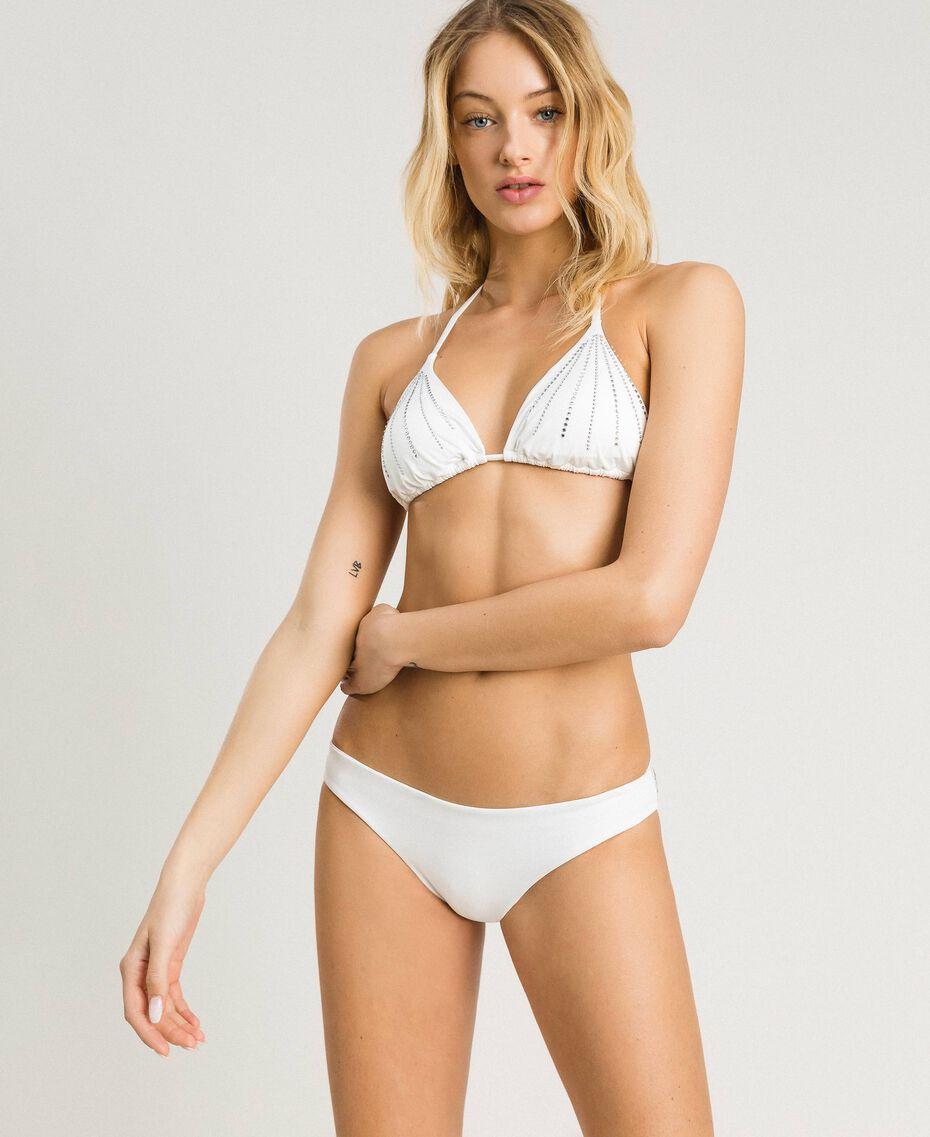 Einfarbige Bikinihose Schwarz Frau 191LMMG66-02