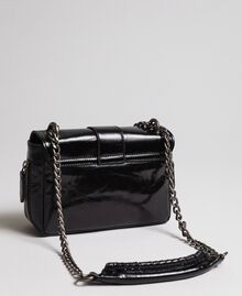 Small Rebel leather shoulder bag Black Woman 192TO823F-03