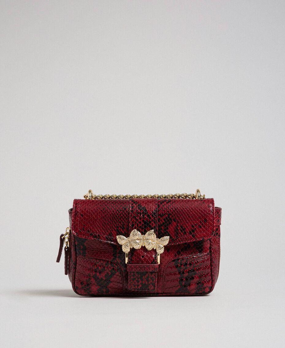 Маленькая сумка через плечо Rebel с питоновым принтом Питоновый Принт Красная Свекла женщина 192TO7231-03