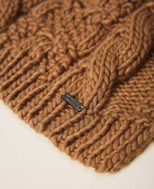 Knit scarf with logo Brown Sugar Woman 202ST4711-02