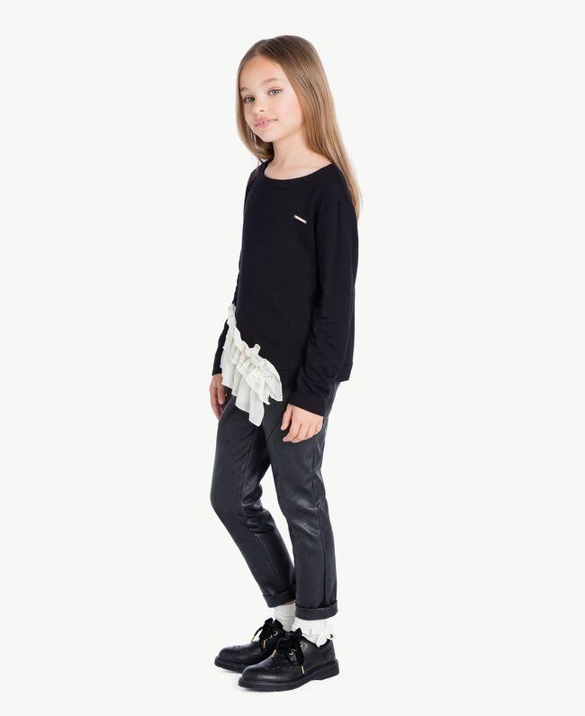 Pantalón de cuero sintético Negro GA72A1-01