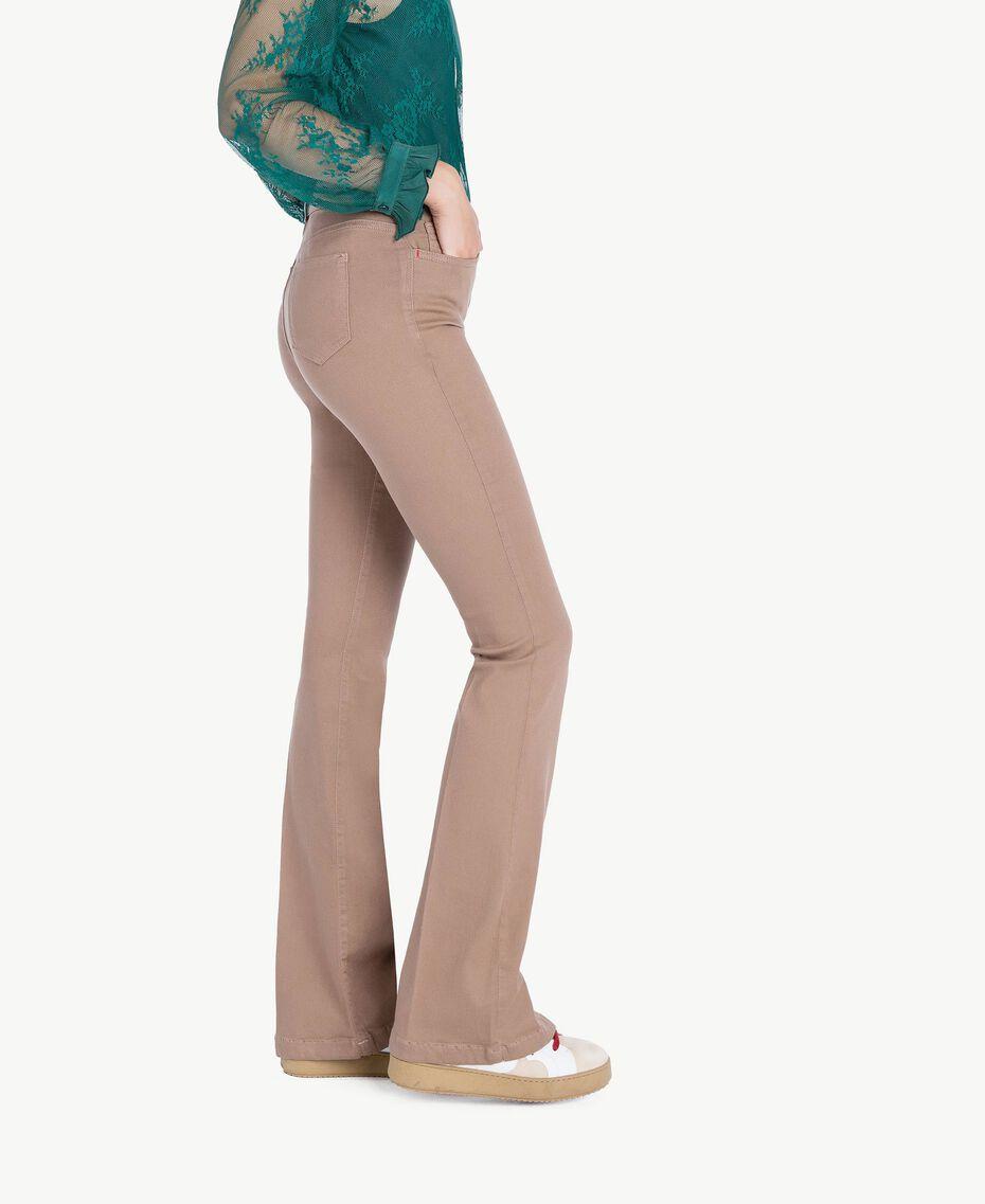 """Bell bottom trousers """"Safari"""" Beige Female JA72T2-02"""