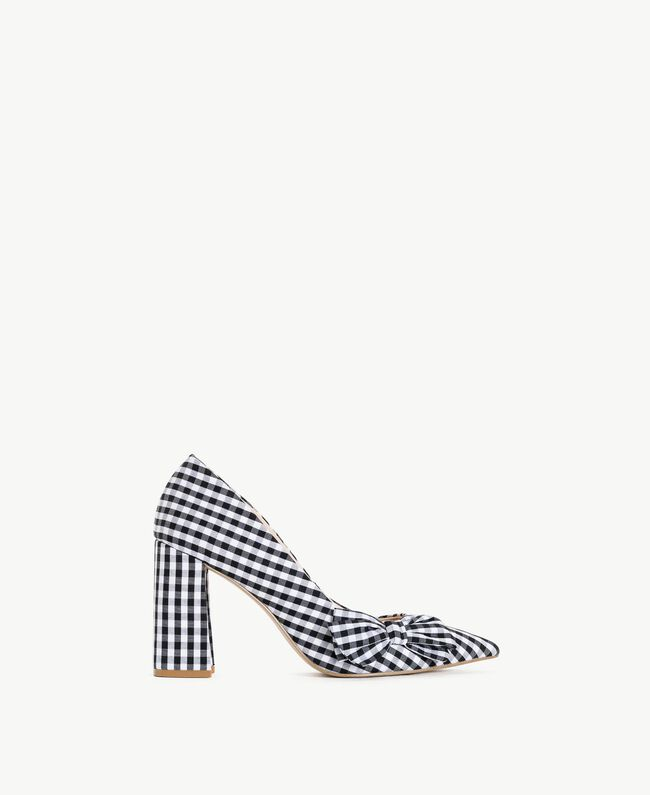 TWINSET Gingham court shoes Black Woman DS8PB3-01