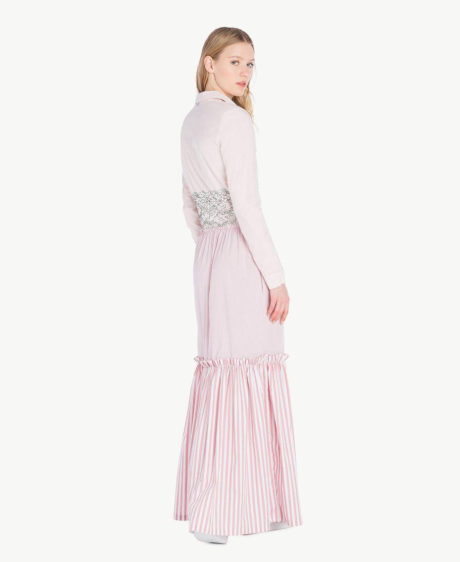 Long patchwork dress Quartz Pink Woman JS82D7-03